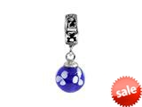 SilveRado™ MMD011 Murano Glass Dangle Ball Dare to Dream Bead / Charm