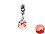 SilveRado™ MMD013 Murano Glass Dangle Ball Miss Minki Bead / Charm style: MMD013