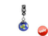 SilveRado™ MMD014 Murano Glass Dangle Ball Daisy Bell Bead / Charm