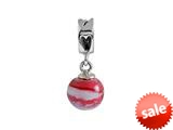 SilveRado™ MMD016 Murano Glass Dangle Ball Mon Cherie Bead / Charm style: MMD016