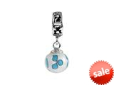 SilveRado™ MMD017 Murano Glass Dangle Ball Wind Dance Bead / Charm style: MMD017