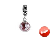 SilveRado™ MMD019 Murano Glass Dangle Ball Moon Shine Pandora Compatible Bead / Charm