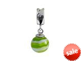SilveRado™ MMD021 Murano Glass Dangle Ball Apple Swirl Bead / Charm style: MMD021