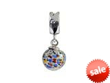 SilveRado™ MMD024 Murano Glass Dangle Ball Babylon Pandora Compatible Bead / Charm