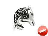SilveRado™ MS004 Sterling Silver Dolphin Bead / Charm style: MS004