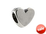 SilveRado™ MS016 Sterling Silver Polished Heart Bead / Charm style: MS016