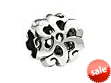 SilveRado™ MS017 Sterling Silver Double Flower Pandora Compatible Bead / Charm style: MS017