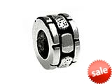 SilveRado™ MS018 Sterling Silver Brick Spacer Pandora Compatible Bead / Charm style: MS018
