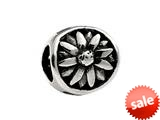 SilveRado™ MS019 Sterling Silver Gazania Pandora Compatible Bead / Charm style: MS019