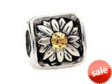 SilveRado™ MS023T Sterling Silver/Gold Daisy Bead / Charm style: MS023T
