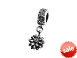 SilveRado™ MS044 Sterling Silver Dangle Flower Bead / Charm style: MS044