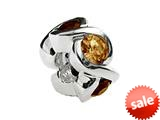 SilveRado™ Sterling Silver Simulated Citrine Bead / Charm style: MS050-5CT
