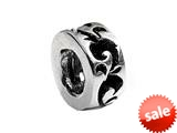 SilveRado™ MS070 Sterling Silver Wave Spacer Bead / Charm style: MS070