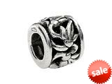 SilveRado™ MS076 Sterling Silver Floral Circle Bead / Charm style: MS076