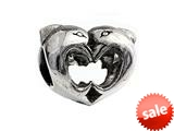 SilveRado™ MS094 Sterling Silver Dolphins in Love Bead / Charm style: MS094