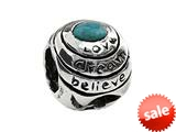SilveRado™ MS096-2 Sterling Silver Love, Dream, Believe Bead / Charm