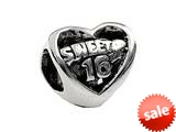 SilveRado™ MS111 Sterling Silver Sweet 16 Bead / Charm style: MS111