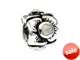 SilveRado™ MS155F-MS3 Sterling Silver Three Flowers Moon Stone June Pandora Compatible Bead / Charm