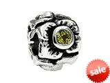 SilveRado™ MS155H-PD3 Sterling Silver Three Flowers Peridot August Bead / Charm style: MS155H-PD3