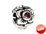 SilveRado™ MS155J-PT3 Sterling Silver Three Flowers Pink Tourmaline October Bead / Charm