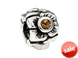 SilveRado™ MS155K-CT3 Sterling Silver Three Flowers Citrine November Pandora Compatible Bead / Charm style: MS155K-CT3
