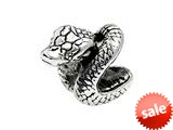 SilveRado™ MS161 Sterling Silver Snake Bead / Charm style: MS161