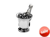 SilveRado™ MS207 Sterling Silver Champagne on Ice Bead / Charm