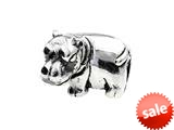 SilveRado™ MS216 Sterling Silver Hippo Bead / Charm style: MS216