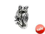 SilveRado™ MS219 Sterling Silver Owl Bead / Charm style: MS219