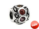 SilveRado™ MS220-7 Sterling Silver Bejeweled Pandora Compatible Bead / Charm style: MS220-7