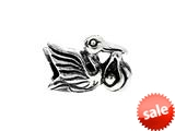 SilveRado™ MS259 Sterling Silver Stork with baby Bead / Charm