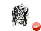 SilveRado™ MS283 Sterling Silver Seal, Turtle and Ray Pandora Compatible Bead / Charm