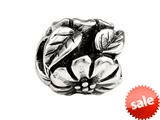 SilveRado™ MS305 Sterling Silver Flower and Leaf Bead / Charm