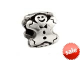 SilveRado™ MS316 Sterling Silver Ginger bread man Bead / Charm