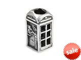 SilveRado™ MS319 Sterling Silver Telephone Box Bead / Charm style: MS319