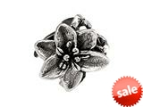 SilveRado™ MS368 Sterling Silver Exotic Flower Bead / Charm style: MS368