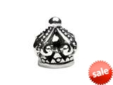 SilveRado™ MS398 Sterling Silver Crown # 6 Bead / Charm