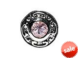 SilveRado™ Sterling Silver Simulated Pink Spinel Bead / Charm style: MS468-PS2