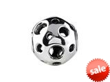 SilveRado™ MS615 Sterling Silver Focal Puzzle Ball Bead / Charm