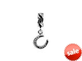 SilveRado™ MS629 Sterling Silver Dangle Horseshoe Bead / Charm style: MS629