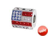 SilveRado™ MUS003 Bling American Flag Bead / Charm style: MUS003