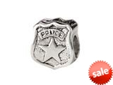 SilveRado™ MUS028 Sterling Silver Police Badge style: MUS028