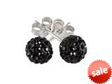 SilveRado™ RSR018-0 Earrings Bling Bling Black Pandora Compatible Bead / Charm style: RSR018-0