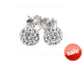 SilveRado™ RSR018-1 Earrings Bling Bling White Bead / Charm