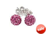SilveRado™ RSR018-2 Earrings Bling Bling Pink Pandora Compatible Bead / Charm