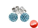 SilveRado™ RSR018-3 Earrings Bling Bling Blue Bead / Charm