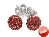 SilveRado™ RSR018-6 Earrings Bling Bling Red Pandora Compatible Bead / Charm style: RSR018-6