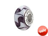 SilveRado™ SR09 Murano Glass Two Tribes Bead / Charm
