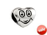 SilveRado™ SRK104 Sterling Silver Kidz Happy Heart Bead / Charm style: SRK104
