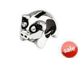 SilveRado™ SRK109 Sterling Silver Kidz Piggy Bank Bead / Charm style: SRK109